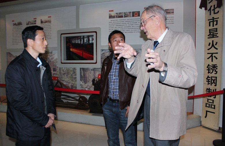 芬蘭不銹鋼金屬材料專家利弗馬先生蒞臨我公司參觀